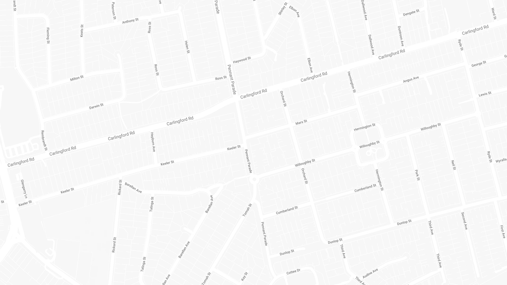 Map of Epping, Sydney